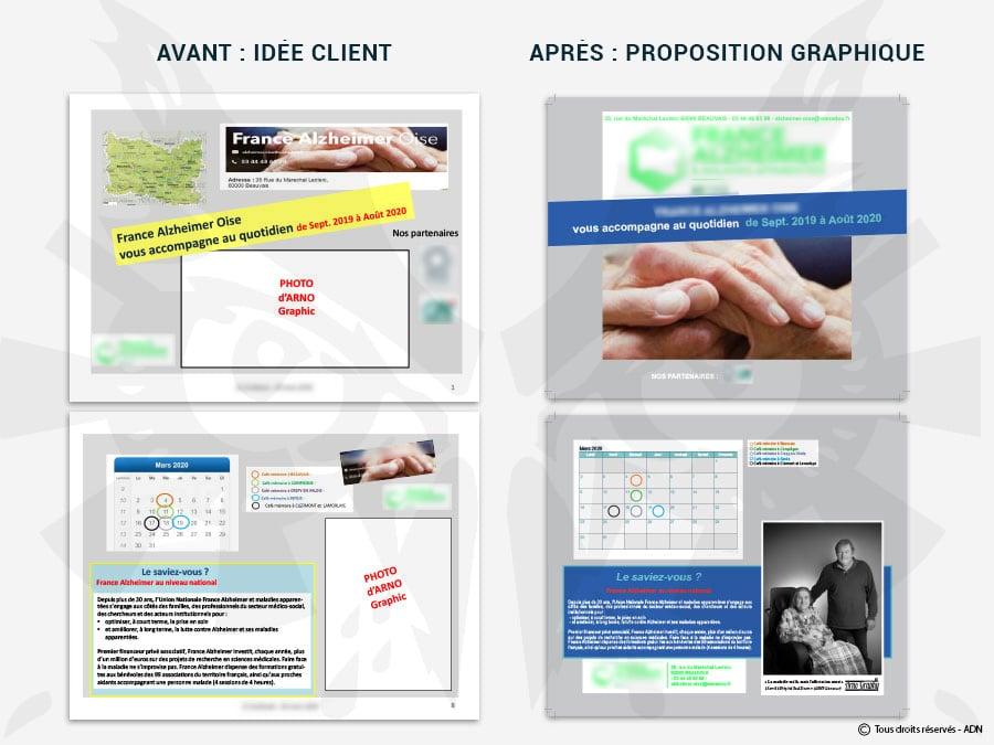 Création graphique à partir d'une idée client