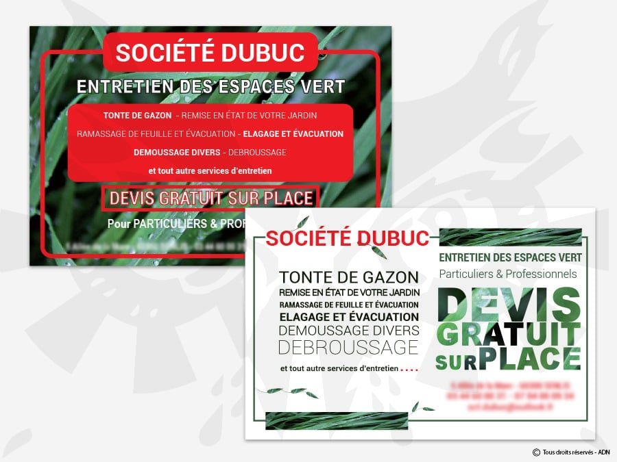 Flyer - 2 propositions